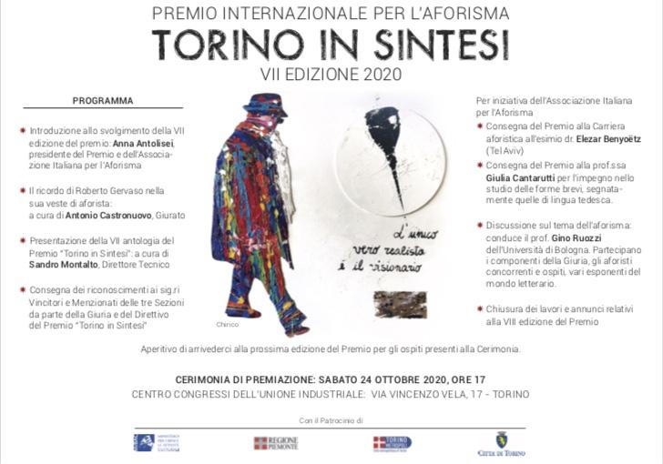 Premiazione Torino in Sintesi 2020